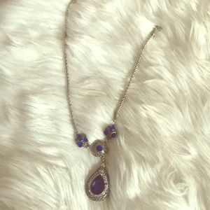Jewelry - Silver necklace with blue stone